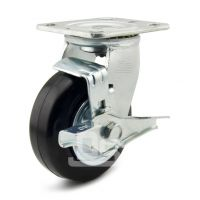 大世脚轮生产 静音耐磨橡胶小车轮 橡胶轮子 保护地面耐磨耗