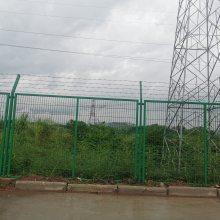 湛江工地项目围栏网现货,绿色弯头护栏网价格,湛江包塑护栏网定做