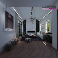 【山水装饰】500平米简约舒适别墅空间设计分享