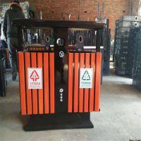 钢木垃圾桶 公园环保分类垃圾桶生产厂家