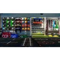 山东奥信德健身器材厂家直销健身房储物架置物架私教室CF架设计LOGO