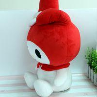 厂家专业定制毛绒玩具 可爱坐姿米菲兔公仔来图打样