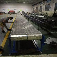 不锈钢链板爬坡机 裙边挡板输送机 可移动运输机 自动化输送设备 德隆非标定制 小型传送机