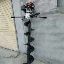 螺旋式挖坑机 汽油机带动地面挖坑机 润丰供应