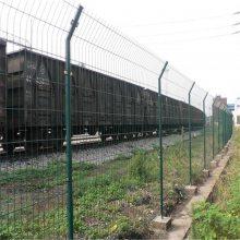 小区别墅护栏网 浸塑折弯隔离栅 公园围墙网