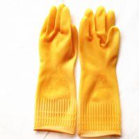 厂家直销大田天然乳胶耐酸碱舒适耐磨家用手套 劳保工业乳胶手套