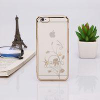 新款苹果iPhone6s/plus 电镀PC+施华洛世奇全包保护套厂家现货秒发