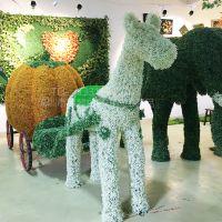 哪家绿雕做的逼真绿琴实力大厂批发 仿真动物绿雕 室外园林绿化装饰树脂制作各种大型动物卡通人物雕塑定制