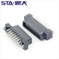 TE 1734101-3板对板连接器 母座180°直脚30PIN 1.27Pitch