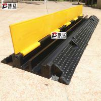 PVC2孔线槽板 舞台橡胶线槽板 过线桥电缆减速板
