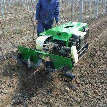 履带式开沟施肥机 茶园旋耕机 自走式果园施肥回填机 润华机械销售