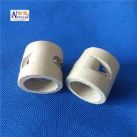 供应38mm陶瓷鲍尔环填料 吸收塔冷却塔陶瓷散堆填料 鲍尔环