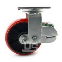 大世94系列 弹簧减震铸铁万向脚轮 中重型定转刹 可定