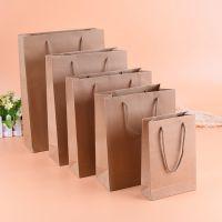 深圳厂家定做牛皮纸手提袋 环保手提纸袋 购物服装包装袋 现货供应
