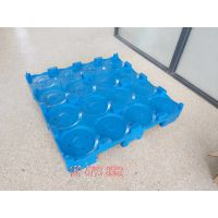 厂家供应新款装桶水叉周转仓库存储塑料托盘 方形桶装水垫卡板 防潮板叉车四面进叉可挪动