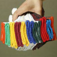 供应700g加密白色棉纱手套  加厚棉纱手套工地耐磨劳保防护手套