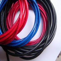 天冈供应201/304包塑钢丝绳 彩色包胶钢丝绳