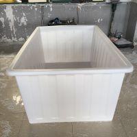 供应广东1300L塑料方箱 纺织印染专用箱 可带推车