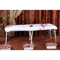 妍思美雅热销美容院美体会所按摩床罩床笠式护理垫白紫色纯棉缎条床裙定做