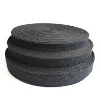 全棉黑色织带多规格扁带环保编织帆布箱包手提秋千带服饰辅料可定