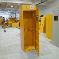 乙炔气瓶柜 单瓶黄色带报警带排风气体储存柜LQ-010