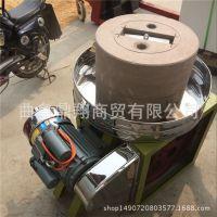 2018款豆浆专用电动石磨机 半自动豆腐石磨机 米浆专用电动石磨报