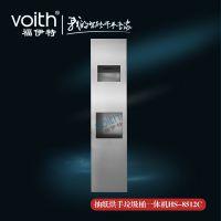 深圳内嵌式垃圾桶安装尺寸不锈钢擦手纸箱专业厂家支持非标订做