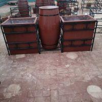 小区绿化 景观花池 防腐木花箱 花钵 盆 种植容器制作 实木花箱