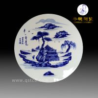 青花人物瓷片一般价格 品质要求 景德镇青花人物瓷片定制批发