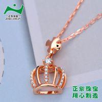 18K黄金首饰加工厂 广州正东珠宝 14K韩国饰品加工 微镶加工