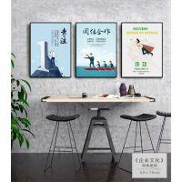 重庆涪陵画框定制|办公室励志装饰画加工