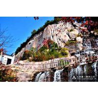 假山瀑布修复 上海迪士尼探险岛景观