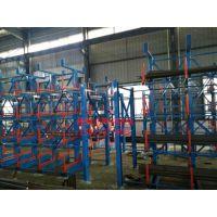 西安军工货架——100%伸缩悬臂式管材货架