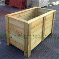 绿化工程防腐木花盆花槽花箱可直接放土种花 园艺花车物业绿化种植售楼处落地式美化种植