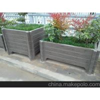 山东地区水泥艺术花箱、仿木花桶、围栏
