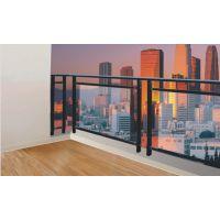 白城仿木纹阳台护栏Q235,白城组装玻璃栏杆,喷塑阳台护栏,热镀锌护窗栏杆HC,