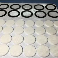 网格硅胶垫 自粘格纹橡胶脚垫 花纹防滑硅橡胶自粘垫