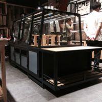 杭州惠利展柜公司加工定制组装HL0098流行新款面包连锁店面包中岛柜