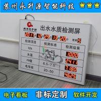 苏州永升源厂家定制YSY包子铺水质自测公示牌 tds水温PH值酸碱度看板 电子看板
