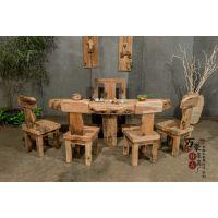 实木家具 原生态茶台 茶几 小户型简约茶桌椅组合 多功能泡茶桌