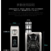 外贸电子烟产品武士200W合金烤漆电子烟盒子全球招商