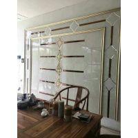 焕彩 厂家直销电视玻璃拼镜背景墙 玄关背景墙玻璃吊顶
