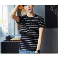 开店拿货服装货源批发市场杭州青年男装T恤纯棉圆领修身短袖几元起批发