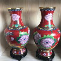 15寸景泰蓝掐丝珐琅花瓶