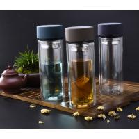 合肥玻璃杯定制【超低价格】双层玻璃杯茶杯团购批发印字