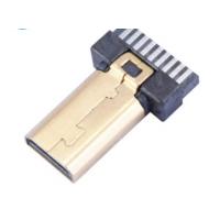 D型HDMI D TYPE 19P焊线式公头 镀金 PCB-创粤