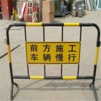 铁马围挡生产厂家@可移动商城临时护栏@移动围栏价格