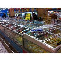 徽点玻璃门风冷岛柜,包头进口超市速冻冰柜,卧式双岛柜定做价格