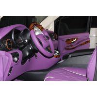 奔驰V250内饰改装,华贵紫再次展现