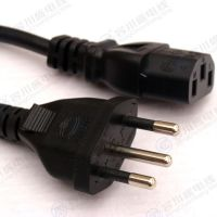 黑色VDE 3芯0.75平方铜线 1.5米巴西电源线 普明 厂家定制
